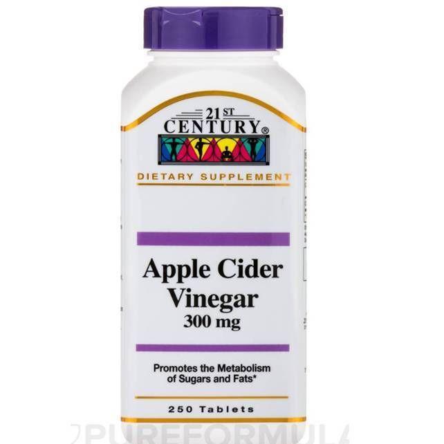 21st Century Apple Cider Vinegar 300mg 250 Tablets Sugar Free #21stCentury