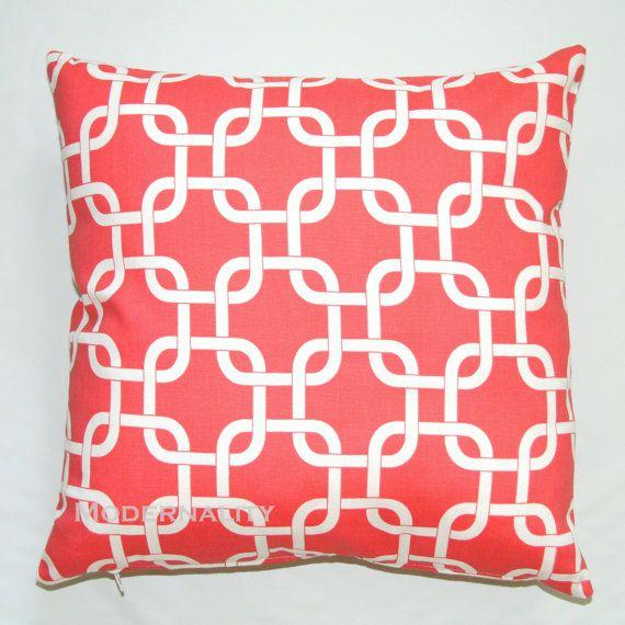 Premier Prints Coral Gotcha Pillow Cover- 16x16 inches- Hidden Zipper Closure