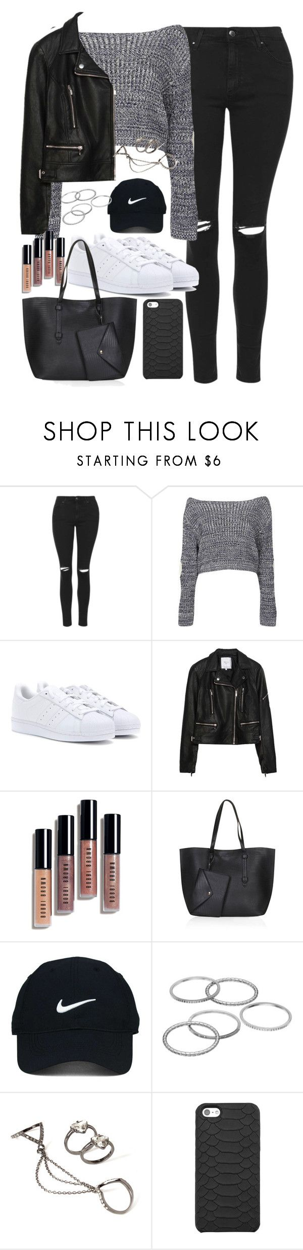 """Outfit for shopping in autumn"" by ferned ❤ liked on Polyvore featuring Topshop, Boohoo, adidas Originals, Zara, Bobbi Brown Cosmetics, Nike Golf, Apt. 9, Forever 21 and GiGi New York"