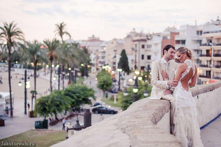Вечерняя свадебная фотосессия в Испании