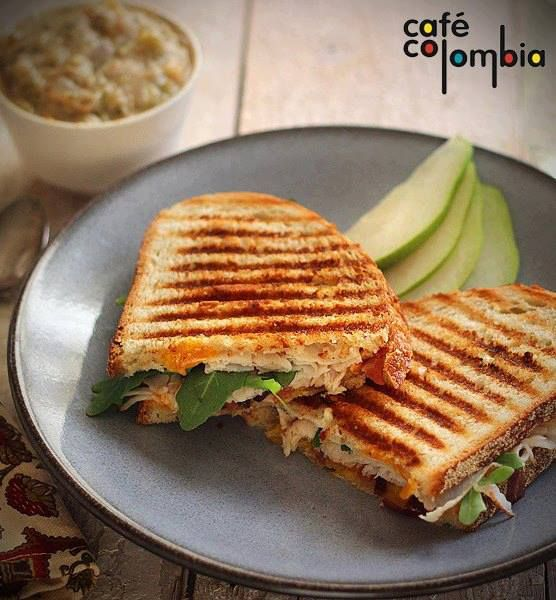 Curried Chicken  Leek Panini Cafe Colombia Pune Cafe