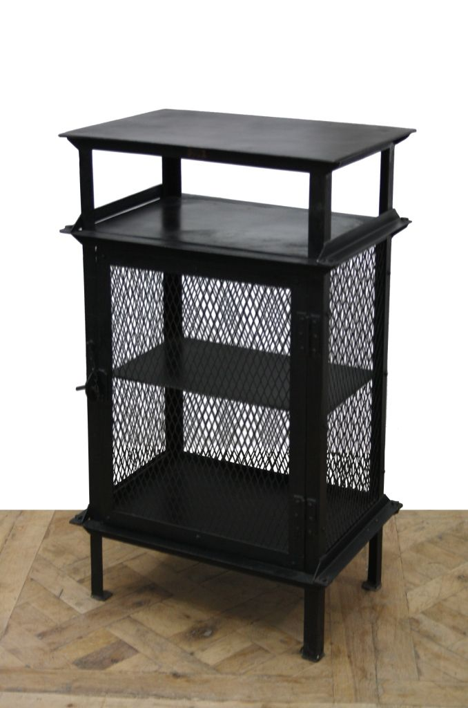 iron industrial furniture. iron end table with mesh frame available at wwwantiquesdirectca industrial furnitureend furniture