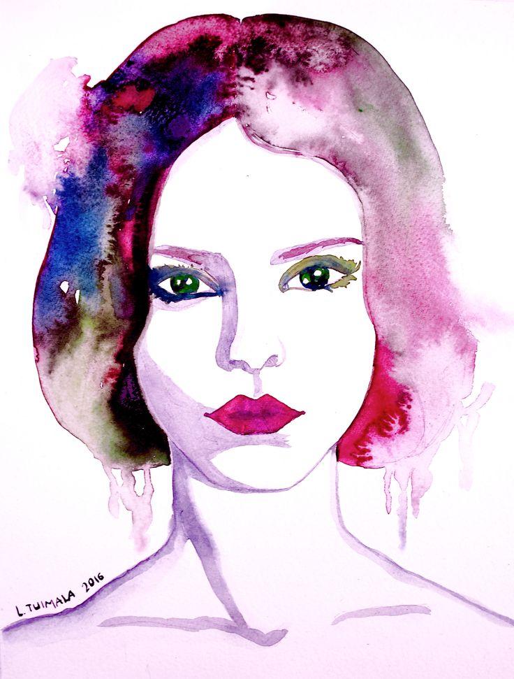 http://www.liisatuimala.com #watercolor #art #portrait