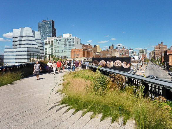 Image of Manhattan's High Line Park in Chelsea. Photo by Francois Roux