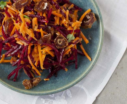 Moroccan salad of raw carrots, beetroot and dates http://www.eatout.co.za/recipe/moroccan-salad-of-raw-carrots-beetroot-and-dates/