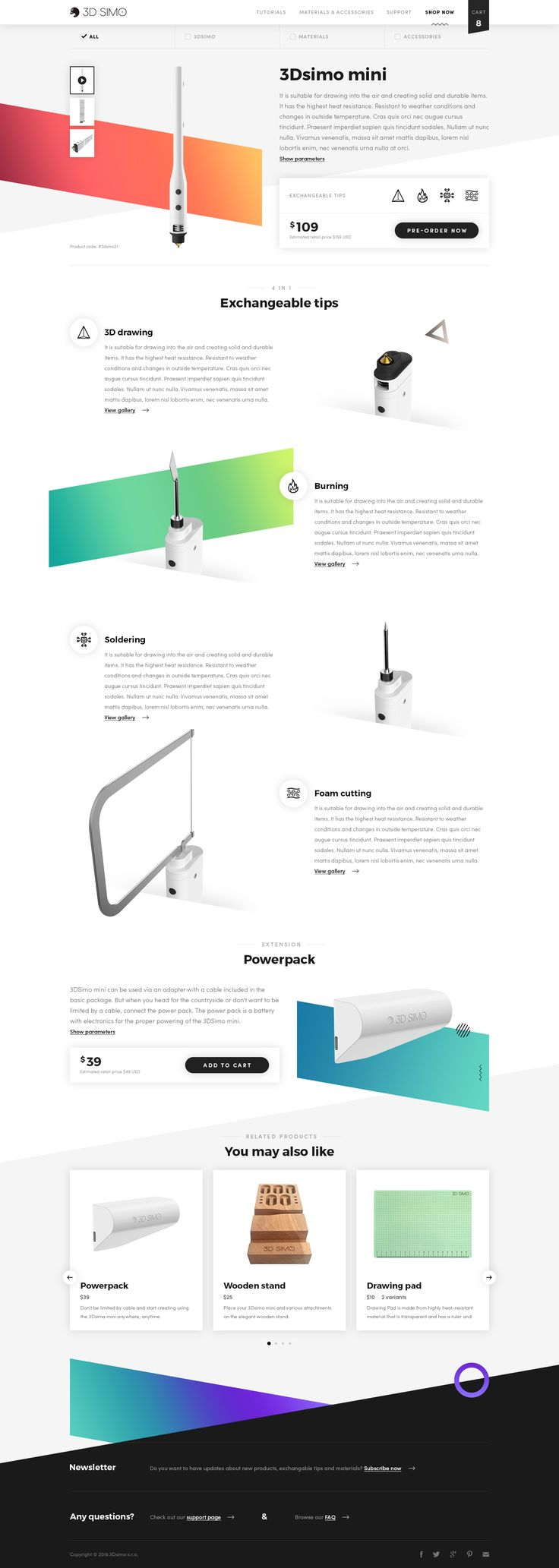 Dribbble - 01-product-page.jpg by Michael Čečetka