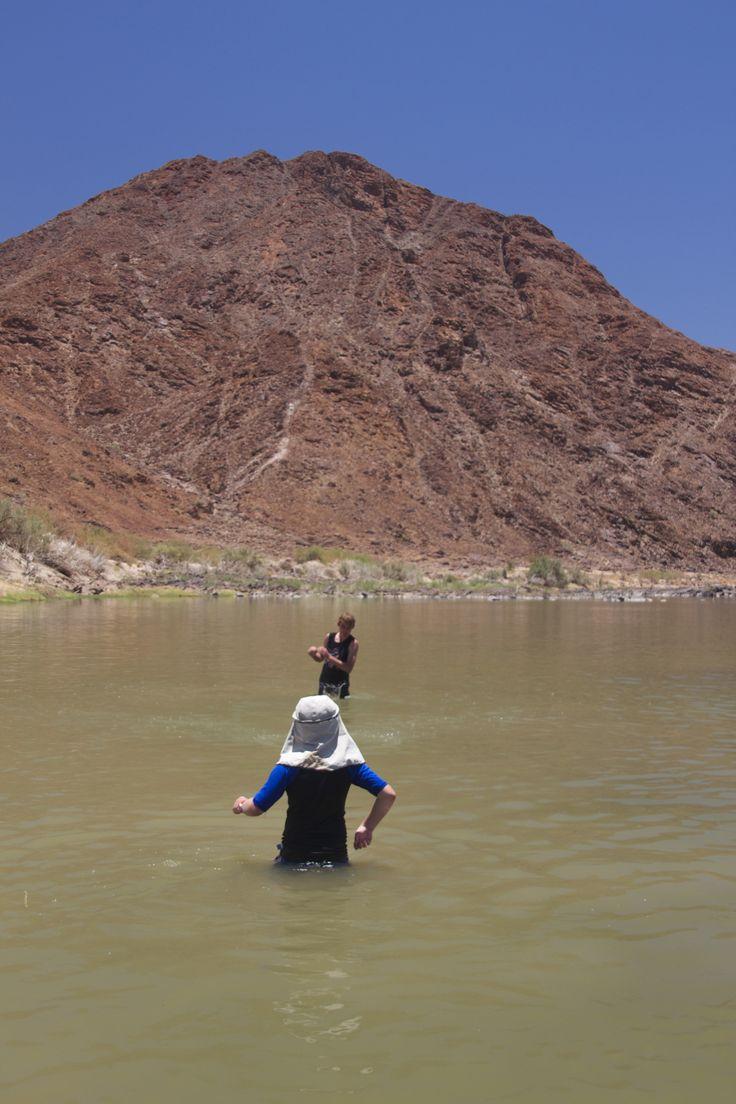 Fun in the river.