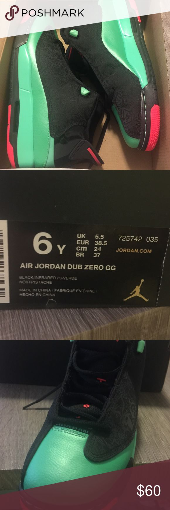 Air Jordan Dub Zero GG Worn-shown in the last pic. It's about a Size 8 in Women's. Jordan Shoes Sneakers