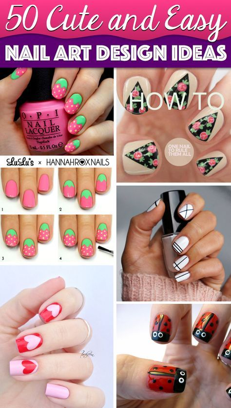 50 Cute Cool Simple And Easy Nail Art Design Ideas To Make You