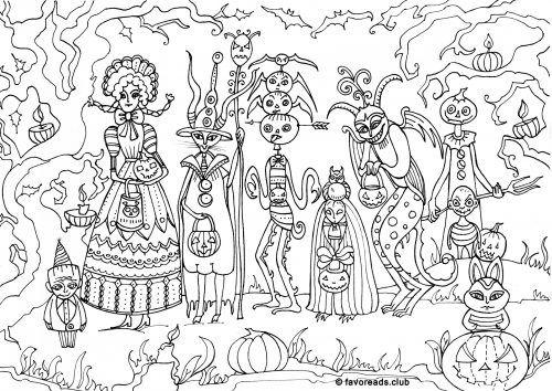 120 besten Coloring pages to print - Halloween Bilder auf Pinterest ...