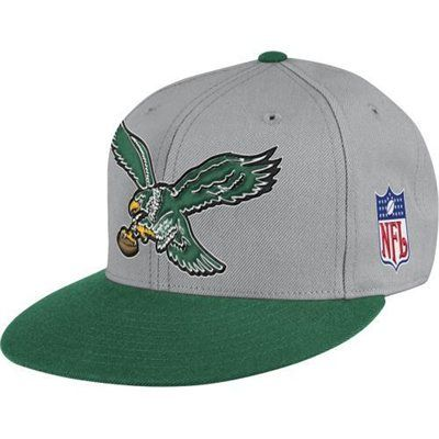 Mitchell & Ness Philadelphia Eagles Throwback XL Logo Fitted Hat