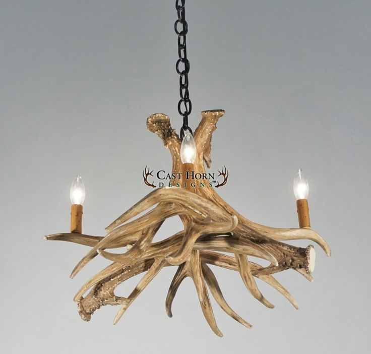 Mule Deer 4 Antler Chandelier-- EXCLUSIVE TO CAST HORN DESIGNS!  NEW! The Mule Deer 4 Antler Chandelier is a great rustic lighting piece for any smaller areas. This chandelier captures the iconic mule deer of the West. The classy look of this chandelier makes it the perfect choice for any home.
