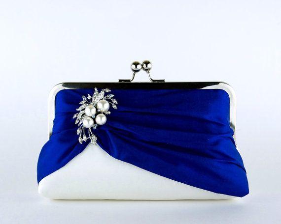 Petit in Royal Silk Clutch Wedding clutch Bridal by ellenVintage, $84.00- do you already have your clutch?