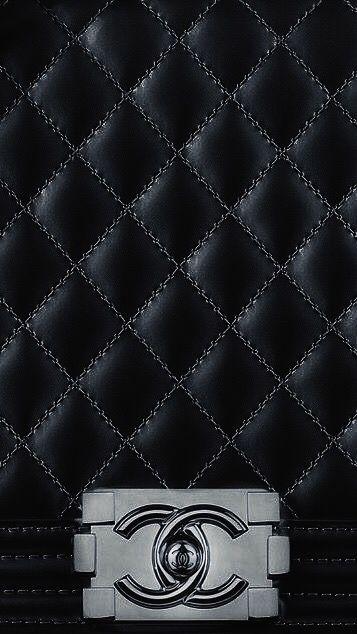 Chanel black wallpaper iPhone 7 screensever