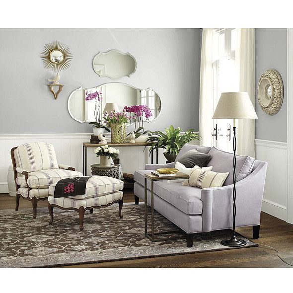 Audrey Mirror: Great for adding light without the weight of a traditional framed mirror, it features a wide beveled edge and is wired to hang either way.