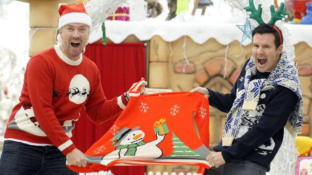 Colin and Justin don cheesy Christmas jumpers for charity | Glasgow