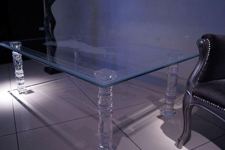 стеклянный стол Tb-01 - Шкло-Люкс Ярослав Фрончак - лазерная 3d гравировка внутри стекла