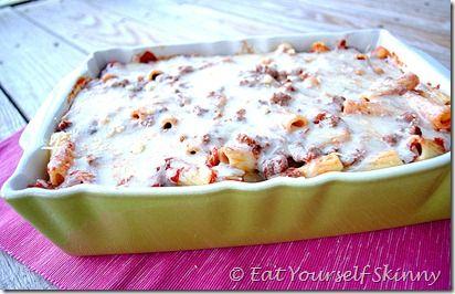 Eat Yourself Skinny! Skinny Baked Rigatoni: Dinners Tonight, Freezers Friends, Pasta Baking, Baking Dinners, Yummy Food, Baking Ziti, Skinny Rigatoni, Baking Rigatoni, Skinny Baking