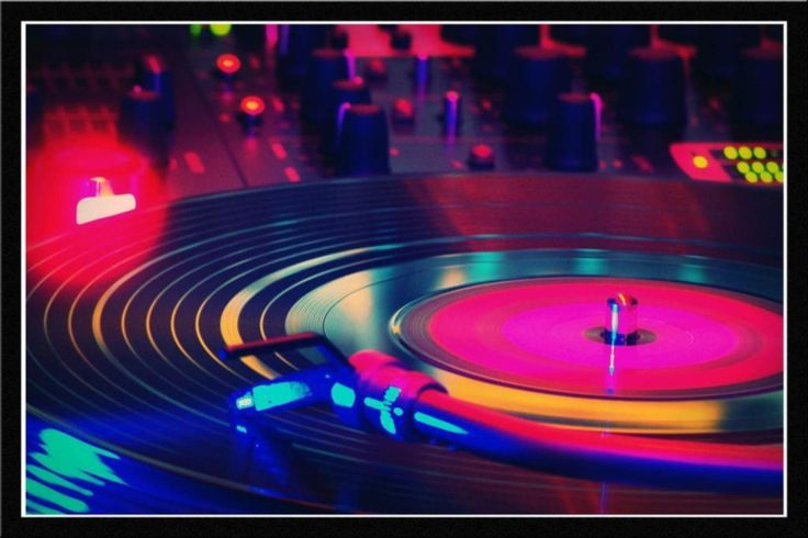 Glass Framed Wall Art By Spoilt - Colourful Dj Music Mixer Paper ...