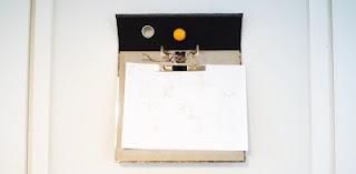 An art display out of of an office folder