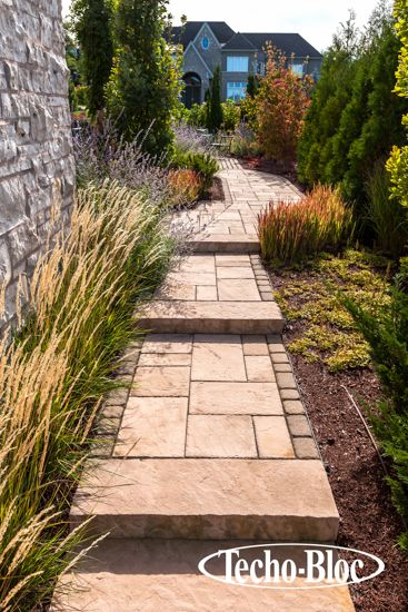 #Walkway #Steps Inca Slabs From Techo Bloc Impart Your Landscape With The  Beauty
