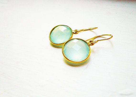 Chalcedony Earrings in Gold Filled and Vermeil