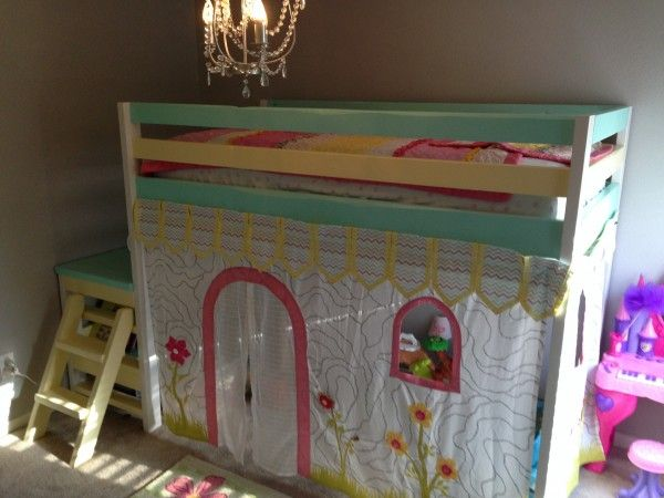 Daughter's Loft Bed | Do It Yourself Home Projects from Ana White
