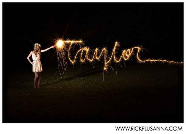 Or even write your name with one. | 47 Brilliant Tips To Getting An Amazing Senior Portrait