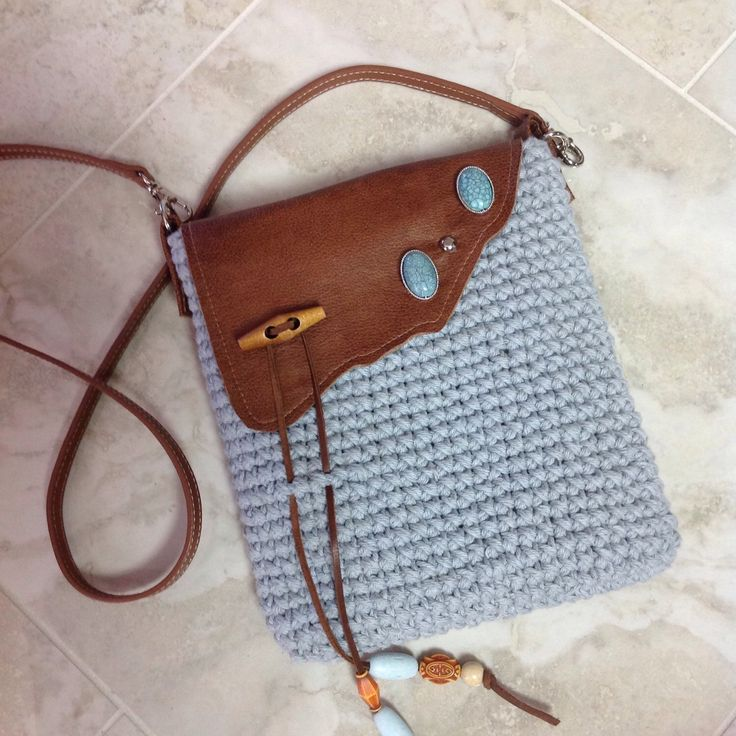 Just finished this fun sized crocheted cross-body bag