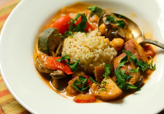 West African vegetable stew in peanut sauce, a great main dish for ...