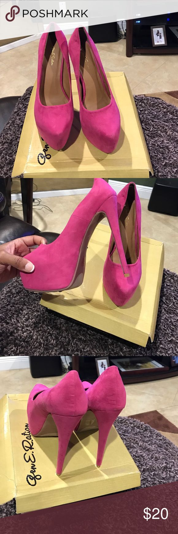 Women's Hot Pink Pumps Hot pinks pumps from shoe store ERGE NEVER WORN. Erge Shoes Heels