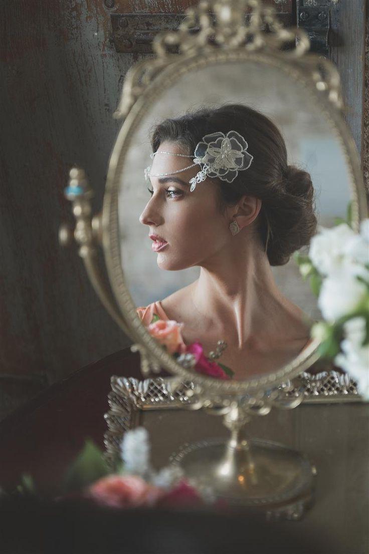 Vintage Bride Getting Ready - A Romantic Vintage Wedding Inspiration Shoot from Sue Gallo Designs