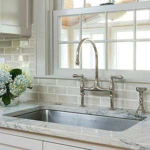 Crackle Glaze Gray Tiled Backsplash Brandi Home And More