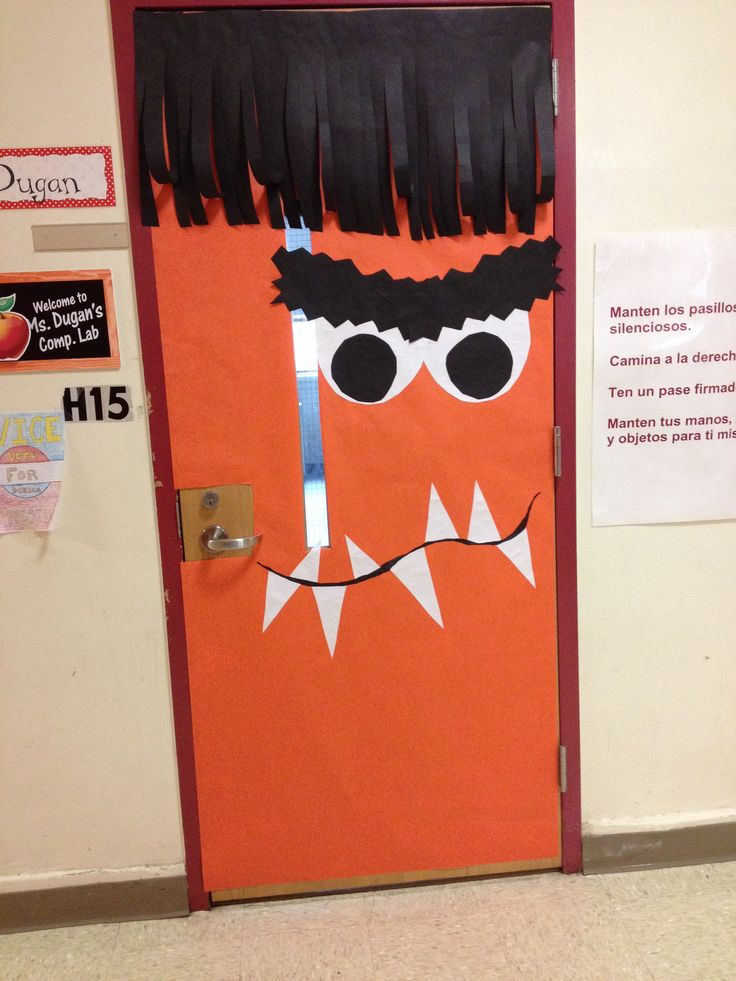 My Halloween monster classroom door
