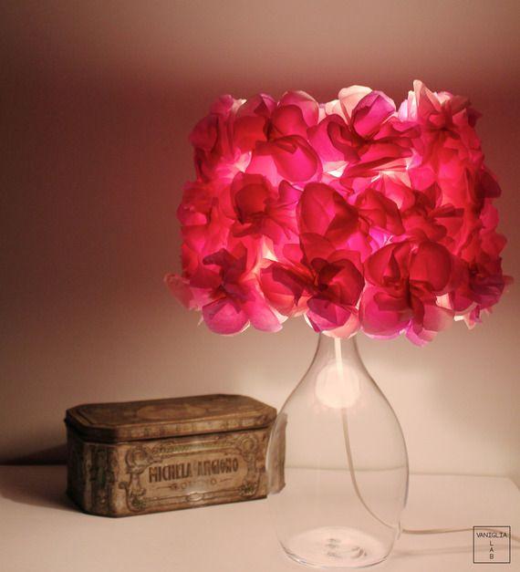 Lampada da tavolo rosa chiaro-rosa scuro