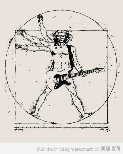 Vitruvian Man Rockin out. I have an inventive mind.