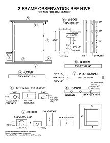 Bee observation hive plans woodworking projects plans for Beehive plans blueprints