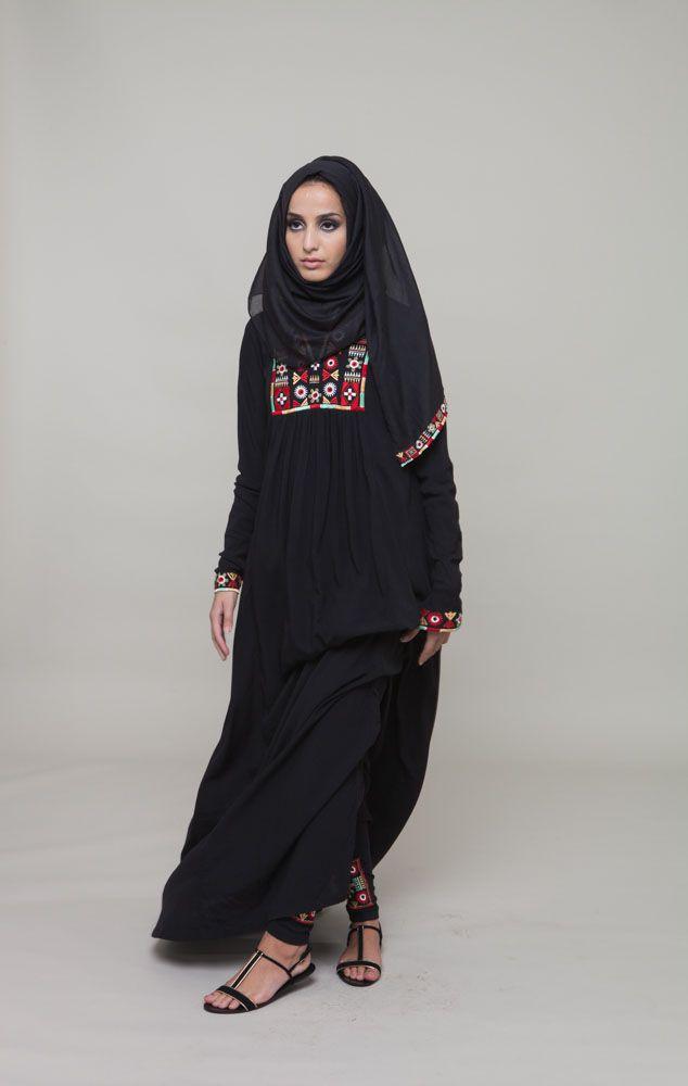 Tribal Art #AabCollection #EidLuxe #EidOutfitIdeas #Abaya #Hijab #Fashion #Style #Womenswear http://www.aabcollection.com/shop/product/tribal-art-abaya/736
