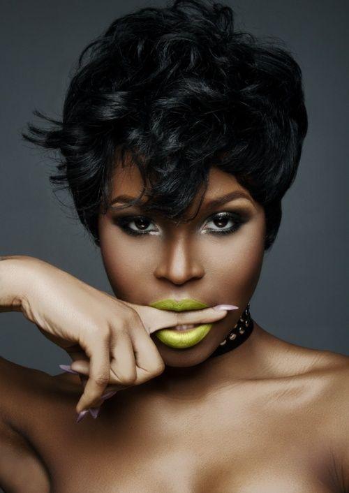 .: African Americans, Green Lips, Makeup, Beautiful, Hair Style, Africans American Women, Lips Colors, Shorts Cut, Shorts Hairstyles