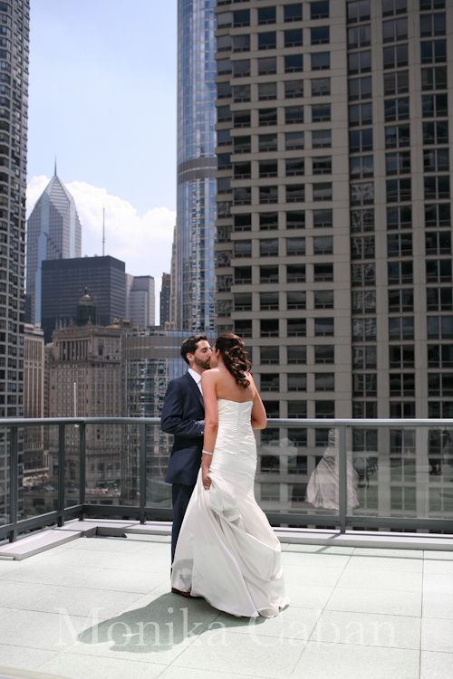 Hotel Palomar, Chicago wedding - the first look
