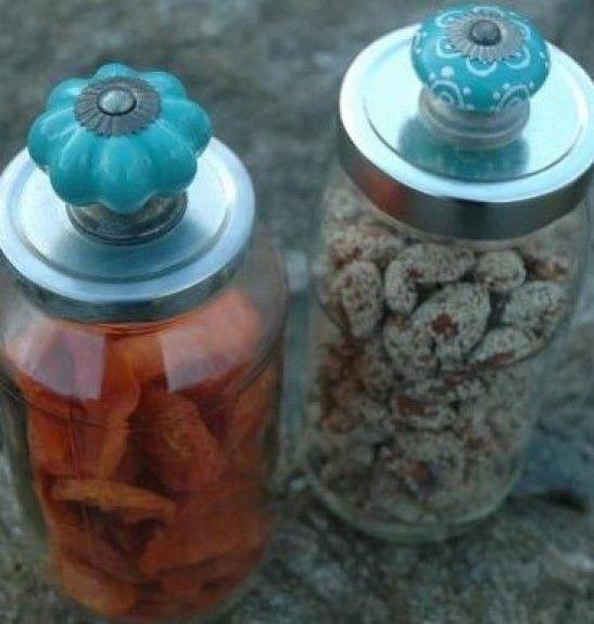 Mooie deurknoppen maken doodgewone bokalen origineel! Door Lime
