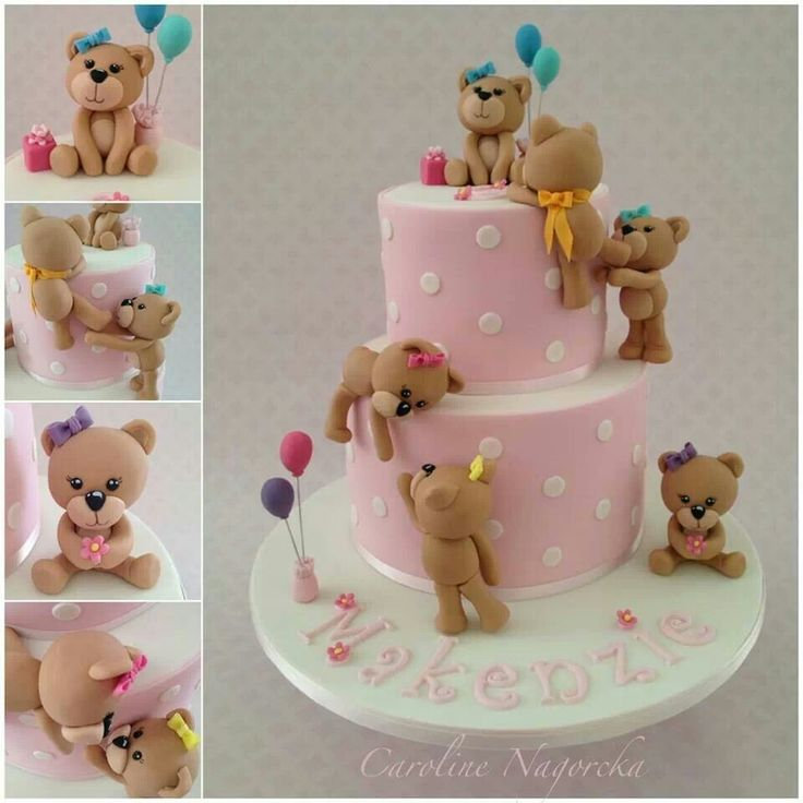 Bear fondant cake