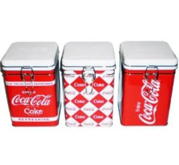 Coca Cola Kitchen Canisters