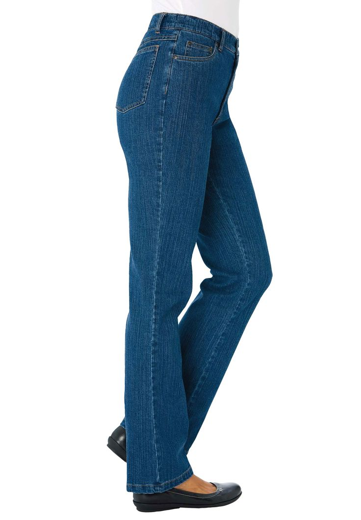 Woman Within Plus Size Tall jean tummy control bootcut 5 ...