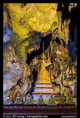 Cavern in the interior of Pindaya Caves. Pindaya, Myanmar