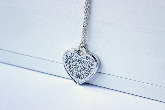 Collana filigrana, collana cuore,  collana argentata, collana ciondolo, collana lunga, collana, idee regalo, ciondolo cuore, gioielli