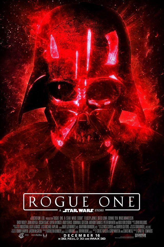 Rogue One A Star Wars Story Poster By: Ryan Crain Design Photo: Mark Edwards