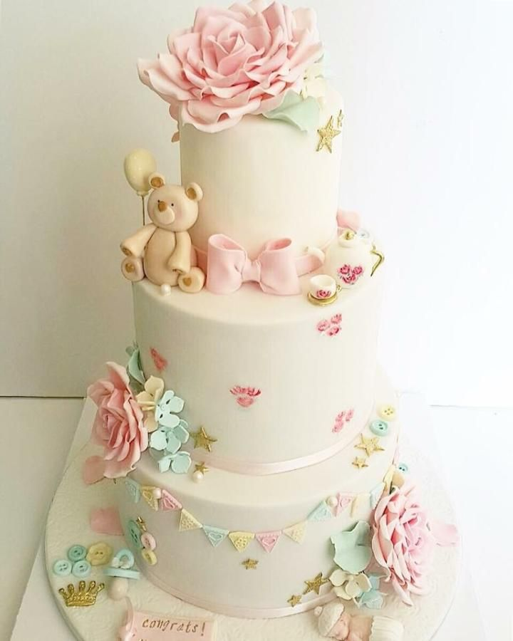 Here We Our With Gorgeous BabyShower Cake The Theme Revolves Around Vintage Tea Party Just Loved Every Bit Of It All Details Are Edible N