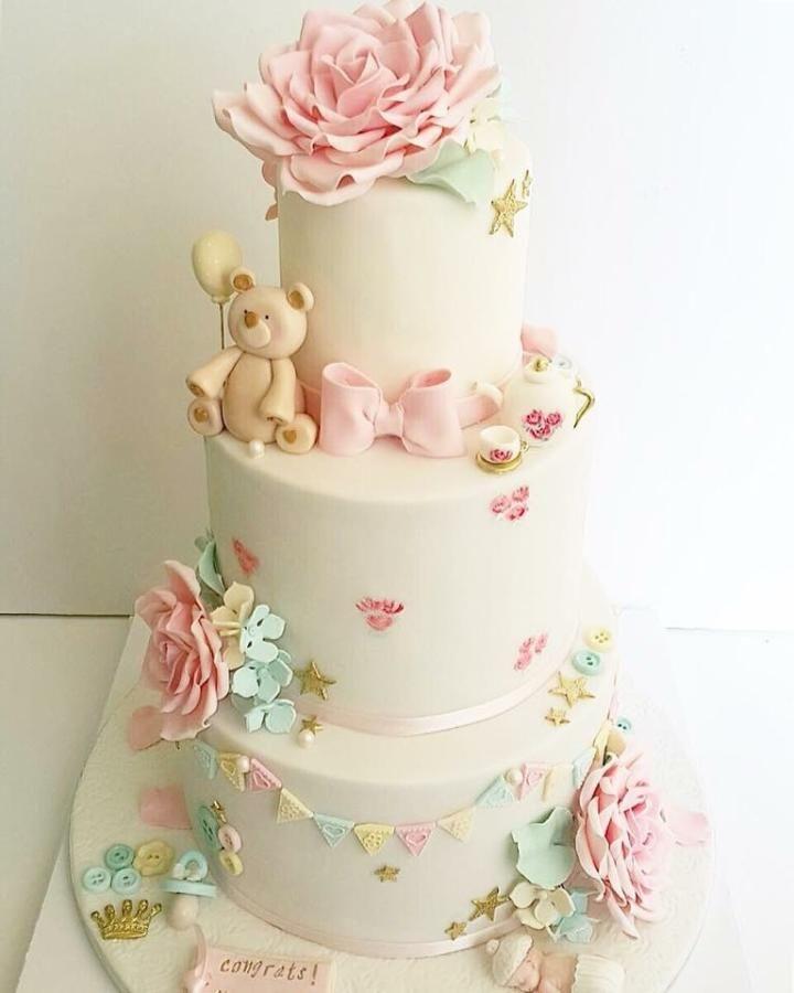 Baby Shower Cake by Shafaq's