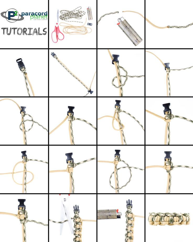 Paracord Tutorial On The Double Tatted Bar Paracord